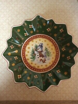 Villeroy & Bosch Christmas Candy Dish (excellent Condition) • 15£