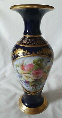 Sevres -type Ornate Baluster Vase With Hand Painted Floral Design. Continental • 240£