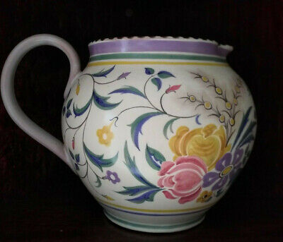 LARGE POOLE POTTERY JUG ZW Pattern Hand Painted Ruth Pavely 1930s  • 49.99£
