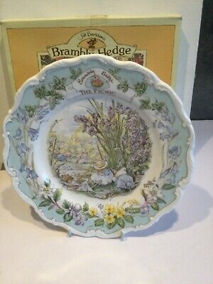 Royal Doulton Brambly Hedge The Picnic  Plate - Boxed • 49.99£