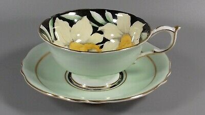 Vintage Paragon Daffodil Cabinet Cup Saucer • 59£