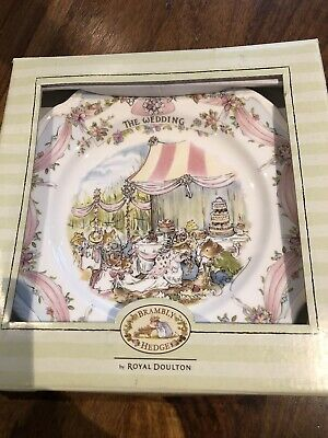 Royal Doulton Bramley Hedge 'The Wedding'  Decorative Plate VGC Boxed • 9.99£