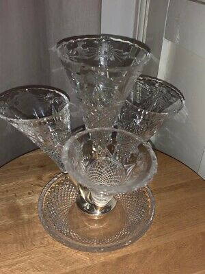 Very Rare Stuart Crystal Beaconsfield Epergne • 504£