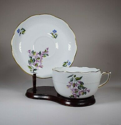 Herend Bougainvillea Hand Painted Bermuda Cup & Saucer • 165.67£