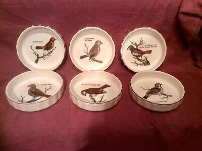 Set Of 6 Quality VILLEROY & BOCH Paradiso Flan Dishes - Wild Birds • 19.99£