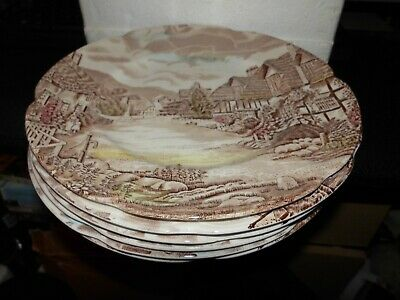 Olde English Countryside Johnson Bros Set Of 6  Salad  Plates 9 INCH  UNBOXED • 8£
