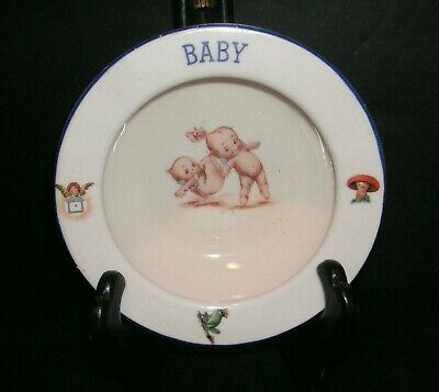 Antique 1920s/30s KEWPIE Pottery BABY BOWL - Made In Czechoslovakia • 18.41£