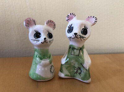 Vintage Philip Laureston Pair Of Mice Mini Ceramic Ornaments • 10.95£
