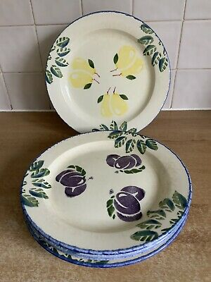 Poole Handpainted  Pottery - Dorset Fruits - 5 X 26 Cm Dinner Plates  • 20£
