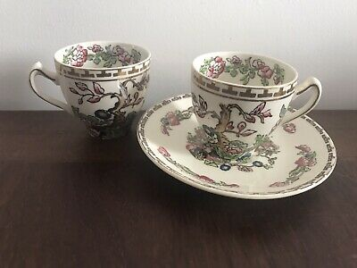 Rare Vintage Alfred Meakin  Indian Tree  2 Espresso Cups & One Saucer  • 4.30£