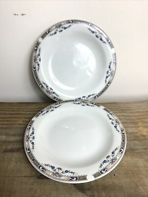 Grindley Pottery 'Carlton' Pattern Pair Of 17cm Sideplates • 5£