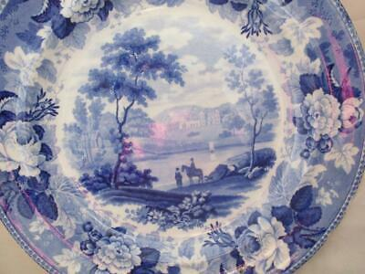 C1820 Wedgwood Blue & White Lakeside View Plate • 20£