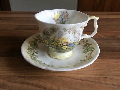 Brambly Hedge Spring Cup And Saucer - 1st Quality - Royal Doulton • 24.99£