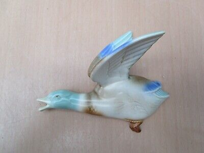 Vintage Poole Pottery Flying Duck Wall Hanging Dated 1924 -1950 • 5£