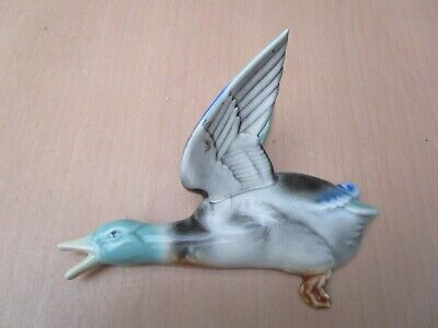Vintage Poole Pottery Large Flying Duck Wall Hanging Dated 1924 -1950 • 60£