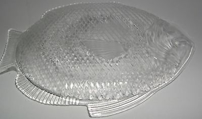 Clear Glass Fish Serving Dish/Tray Approx. 10-3/4    • 11.02£