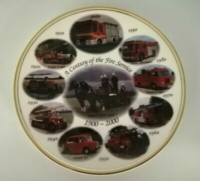 Edwardian; Lane End Pottery  A Century Of The Fire Service  1900-2000 - 8  Plate • 3.99£
