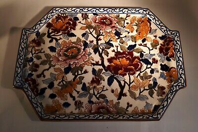 Vintage Repro Of Antique GIEN Faience Pivoines Peony Pattern Tray/ Dish. France • 30£