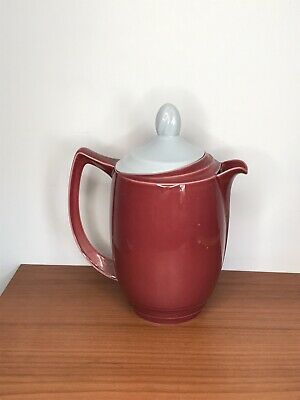 Vintage Branksome Graceline Twin-tone Red Coffee Pot 1950s • 9£