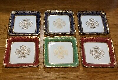 6 Dishes 1910 George Jones IOF LBC Independent Order Of Foresters Canada Masonic • 4.99£