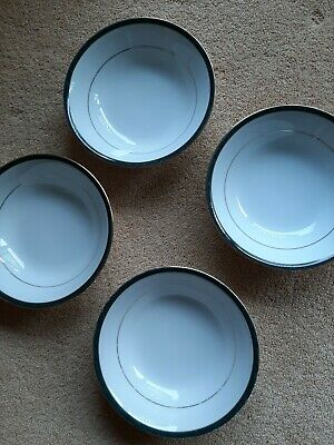 Boots Hanover Green Cereal Bowls X 4 • 14.99£