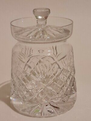 Vintage Cut Glass Condiment Jar With Lid • 5.99£