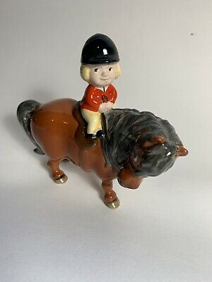 John Beswick, Norman Thelwell Pony L Plate Rider 1981 Iconic Chestnut Pony. • 10.20£