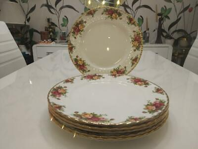 6 Beautiful Royal Albert Old Country Roses Unused Dinner Plates First Quality • 55£