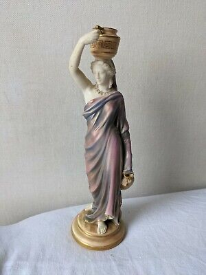 Royal Worcester Porcelain Figure Grecian Classical Female Water Carrier Amphora • 12.40£
