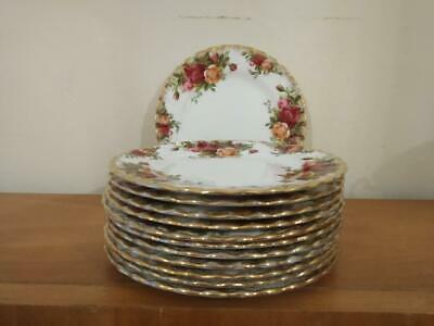 12  Royal Albert Old Country Roses Side Plates • 30£