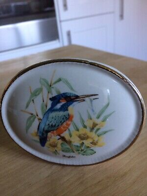 SZEILER POSY VASE With A KINGFISHER DESIGN • 4.99£