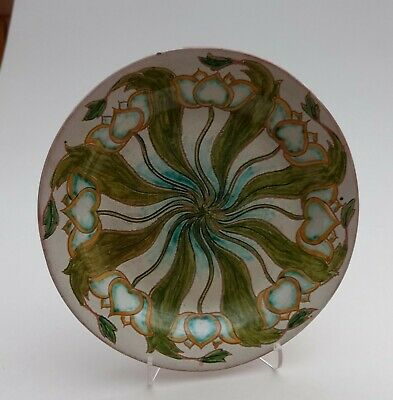 Rare Art Nouveau Della Robbia Pottery Charles Collis Plate Charger Tom Hall 1900 • 299£