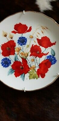 Royal Albert Confield Poppies  Limited  Edition  Plate By Jo Hague  • 8.50£