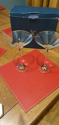 Pair Of Gleneagles Crystal Cocktail Glasses 20cm Tall • 8.99£