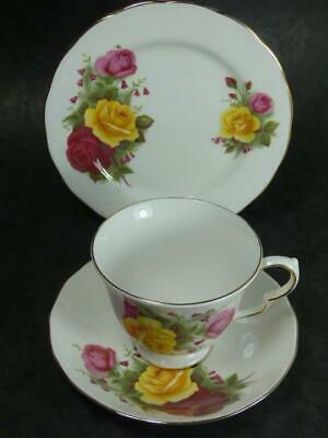 Queen Anne -country Roses - Tea Trio • 3.99£