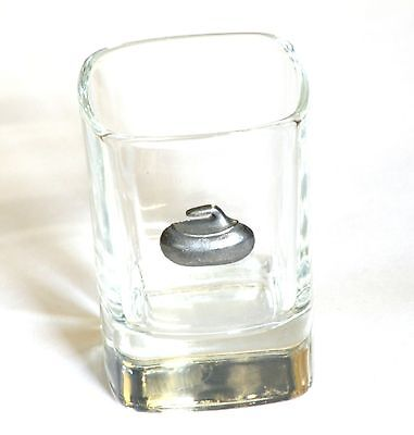 Curling Stone Pewter Motif  Crystal Shot Tot  Glass Ideal  Gift  Present 95 • 49.99£