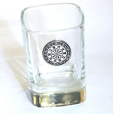 Darts Board Pewter Motif  Crystal Shot Tot  Glass Ideal Award Gift  Present 98 • 49.99£