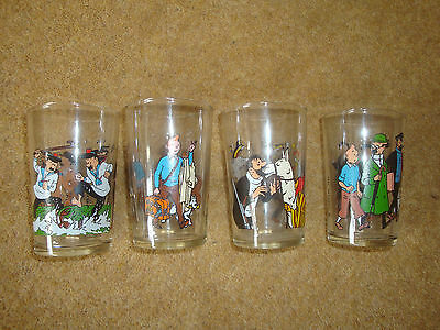 Lovely Tintin Glass - 1986 Lombard - Series Of 4 - Buy Individually. • 19.90£