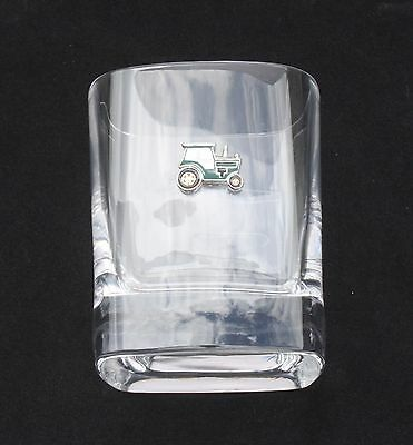 Green Tractor Pair Of Crystal Tumblers Pewter Motift Presentation Box  160 • 34.99£