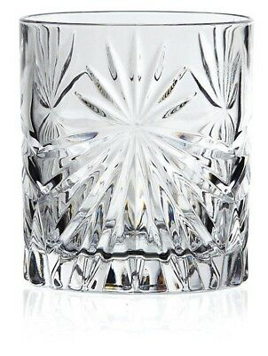 Set Of 6X RCR Italian Crystal Whisky Tumblers Oasis Glass 32cl -Same Day Ship • 14.95£