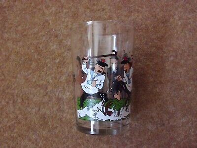 Lovely Tintin Glass - Thomson & Thompson 1986 Lombard - Rare. • 19.90£