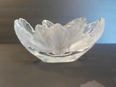 Lalique COMPIEGNE Frosted & Clear Crystal 7.75  Bowl • 331.47£
