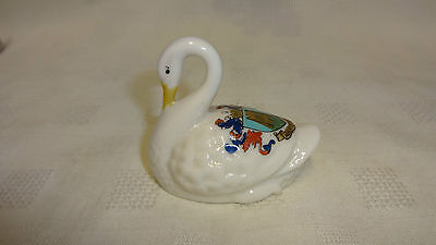 Antique/Vintage Crested Ware China Figure - Swan - Aberystwyth • 15£