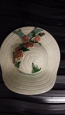 Wall Pocket Green Bow Flowery Bonnet • 20£