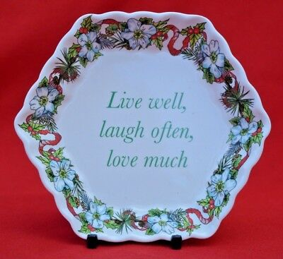 Spode 'holidays' Live Well ...  Small Nut/sweety Dish - Perfect Condition!    • 12.50£