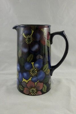 Royal Stanley Ware Jacobean Clematis Tall Jug Art Deco • 39.95£