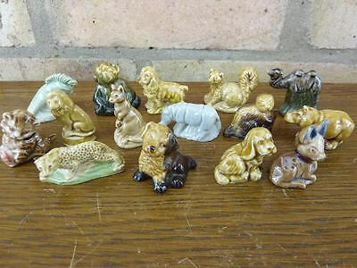 A Nice Set Of 15 Vintage Wade Whimsies Dog Lion Cat Etc. #5 • 13.49£