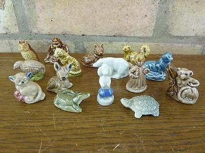 A Nice Set Of 15 Vintage Wade Whimsies Deer Polar Bear Turtle Etc. #3 • 13.49£