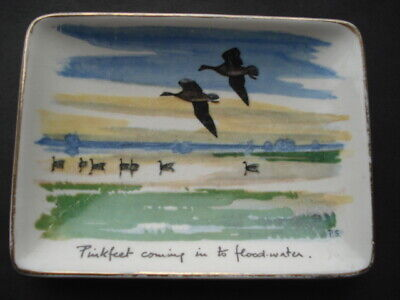 1950s Midwinter Stylecraft Peter Scott Pinkfeet Coming In To  Flood Water Dish • 19.99£