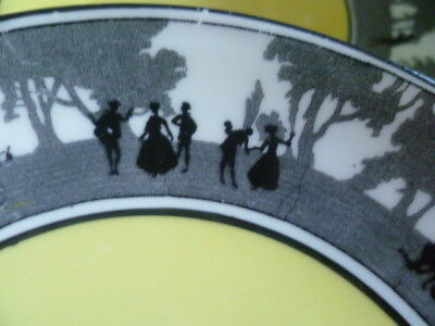 8 Vintage Art Deco Foley E Brain Co China Silhouette Lovers Scene Saucers No 271 • 7.95£